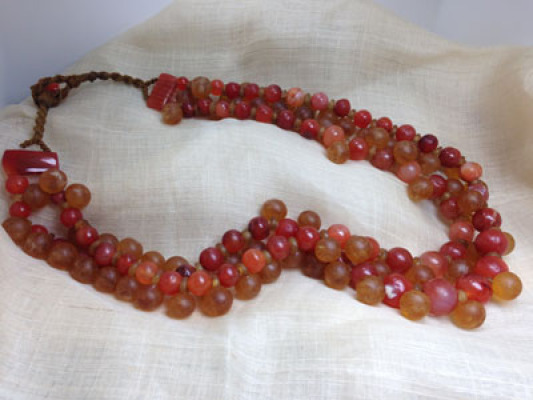 Ancient VIETNAMESE GLASS BEADS and CARNELIAN BEADS