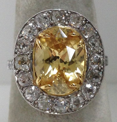 Edwardian Platinum, (natural) Zircon Ring