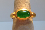 Fine Jadeite Gold Ring